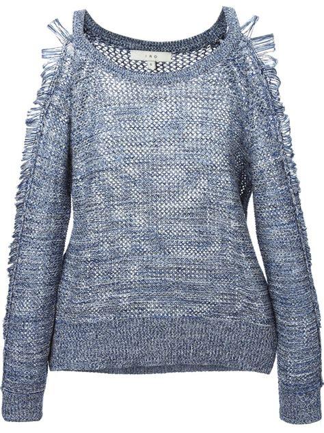textured knit sweater iro textured knit sweater in blue lyst