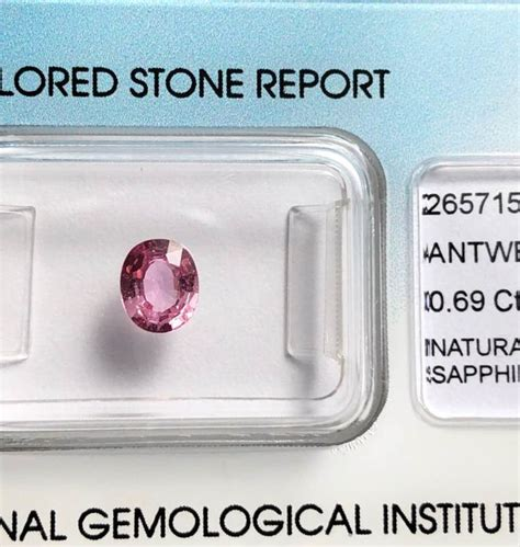 Sapphire 0 69 Cts pink sapphire 0 69 cts no reserve price catawiki