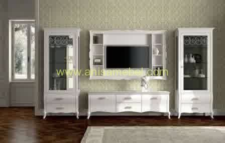 Tv Warna buffet tv warna putih anisa mebel jepara pilihan