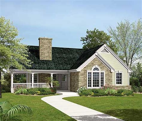 country home plan for a sloping lot 57138ha