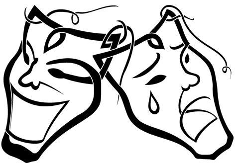 black and white drama black and white drama masks clipart best