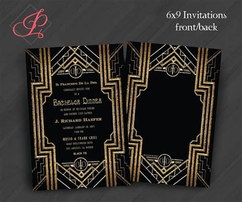 great gatsby themed invitation template invitations great gatsby invitations ideas