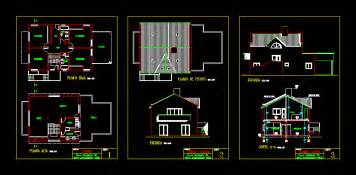 story house  terrace  dwg plan  autocad