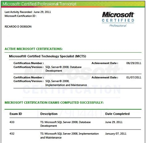 microsoft certification exam list microsoft learning do you want to be a certified sql server database