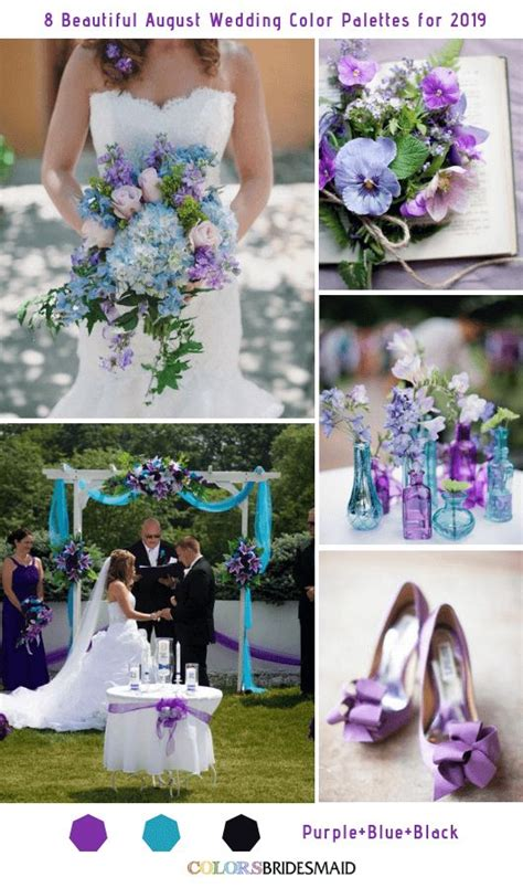 8 beautiful august wedding color palettes for 2019 summer wedding color palettes august
