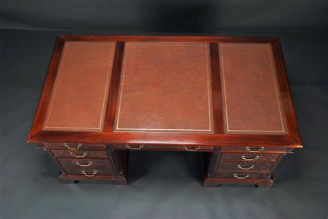 leather top end high end leather top executive mahogany office desk