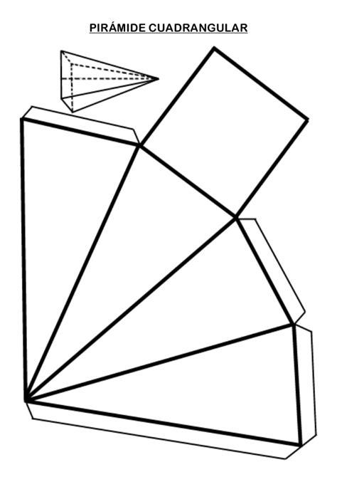 imagenes de pirmides geometricas pir 193 mide cuadrangular cuerpos geometricos pinterest