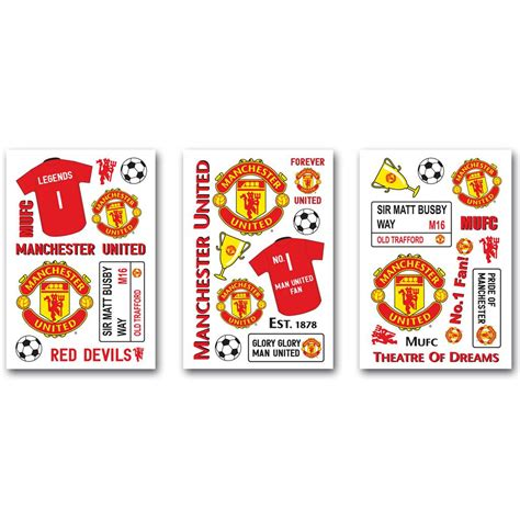 utd wall stickers united fc stikarounds 32 wall stickers football new