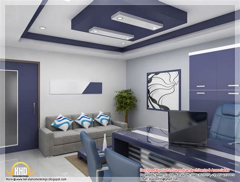 interior home office design beautiful 3d interior office designs kerala home design