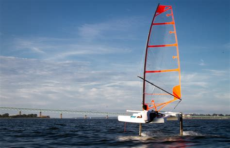 new sailboat new ufo foiler for all shoreline sailboats