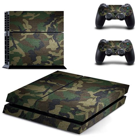 Skin Playstation 4 Ps4 Camo Camouflage 01 camouflage plastic skin sticker for playstation 4 sony ps4 controller joystick decal controller