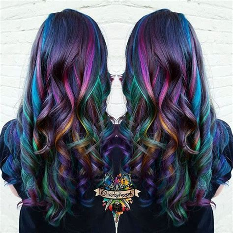 colored highlights 25 best ideas about rainbow highlights on