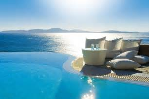 Infiniti Pool Mykonos Grand Hotel And Resort Greece Infinity Pools