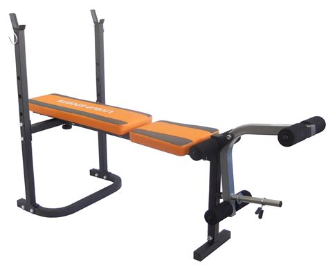 folding weight bench with weight set adjustable folding incline weight bench with leg unit ebay