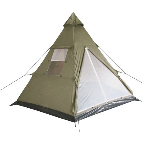 tende indiane mfh indian tent quot tipi quot olive bashas bivis tents