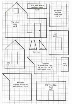 house pattern printable images patterns and templates houses on pinterest