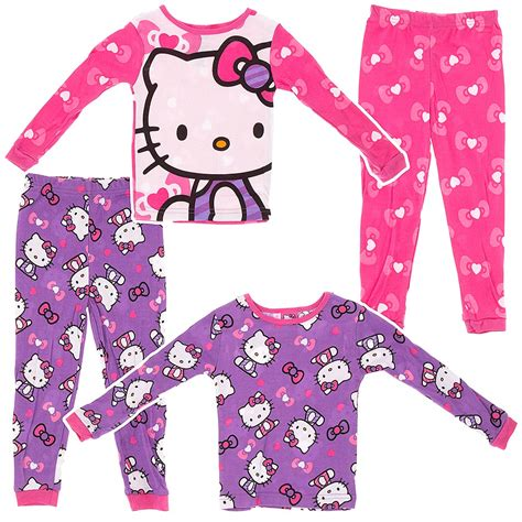 Pajamas Hello Pink hello two pack pink hearts cotton pajamas for click to enlarge