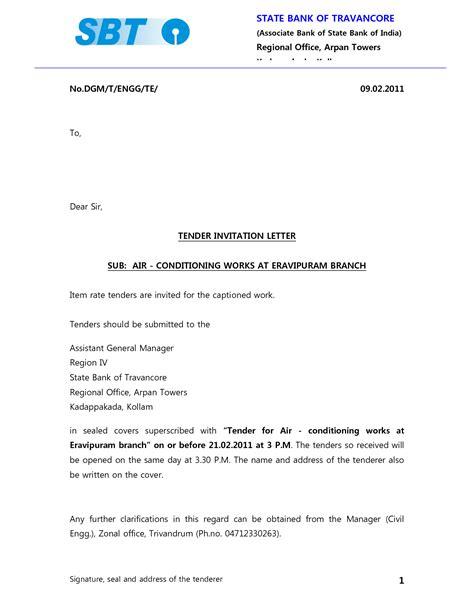 Decline Letter For Tender Invitation 10 best images of invitation to tender sle tender