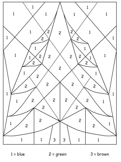 Tree Color By Number Coloring Pages Pinterest Tree Color By Number Coloring Pages