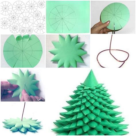 How To Make Paper Trees Step By Step - how to make 3d tree step by step diy tutorial