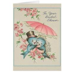 vintage bridal shower greeting card zazzle