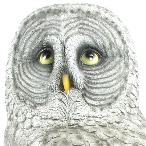 great grey owl resin garden ornament 163 79 99