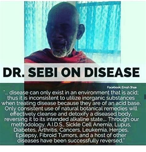 Alkaline Detox Hervs To Cleanse Cells by Dr Sebi On Disease Emohshoe Disease Can Only