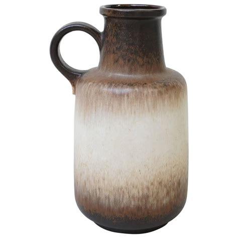 large west germany floor vase in brown by scheurich 408
