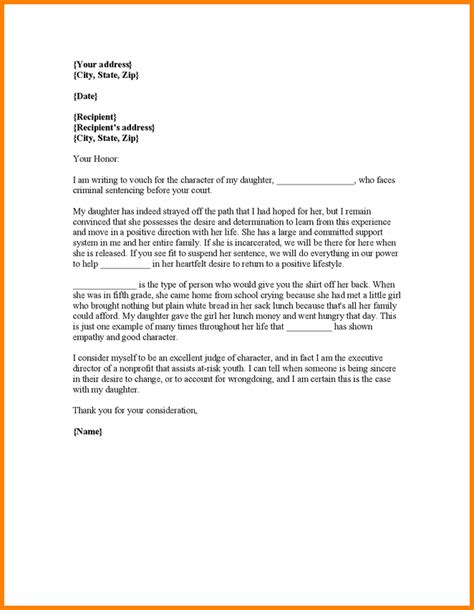 Court Letter 11 Character Reference Letter For Court Template Resume Reference