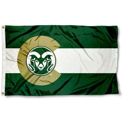 csu rams csu rams colorado state designed flag your csu rams