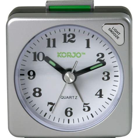 korjo analogue travel alarm clock snooze button and light 9312794737378 ebay