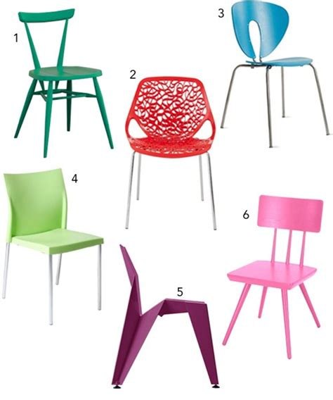 get the look 30 colorful dining chairs stylecarrot