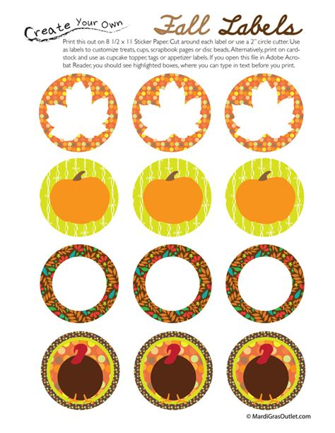 printable thanksgiving stickers party ideas by mardi gras outlet november 2011