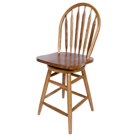 deals on bar stools solid medium oak windsor back swivel counter height bar stool