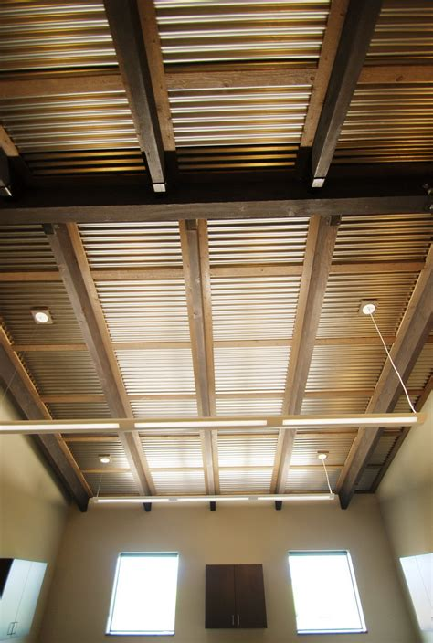 Garage Ceiling Panels by Corrugated Metal Ceiling Cabin Home Design Ideas