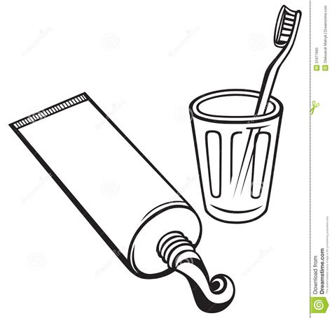 Toothpaste And Toothbrush Stock Vector Illustration Of Toothbrush And Soap Coloring