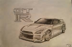 Nissan Gtr Drawing Drawing Of A Nissan Gtr I Did A Of Months Ago What