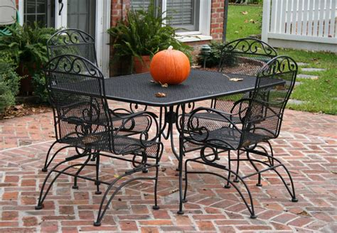 Cast Iron Patio Set Table Chairs Garden Furniture Eva Patio Table And 4 Chairs
