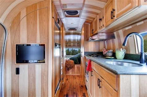 trailer home interior design 1954 airstream renovated into timeless tiny cabin on wheels