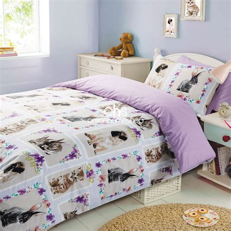 Set Rabbit by Duvet Cover With Pillowcase Bedding Set Pet Kitten