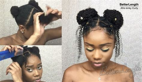 natural hairstyles two buns how to protective style using textured clip ins