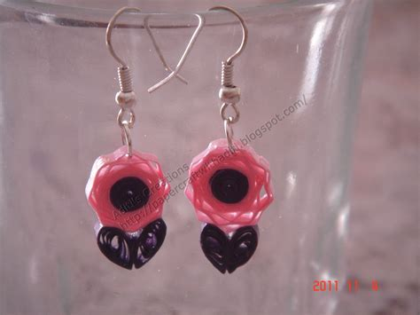 Paper Quilling Earrings - papercraftwithaditi quilled earrings