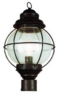 globe lighting fixture trans globe 69905 rbz nautical outdoor post mount