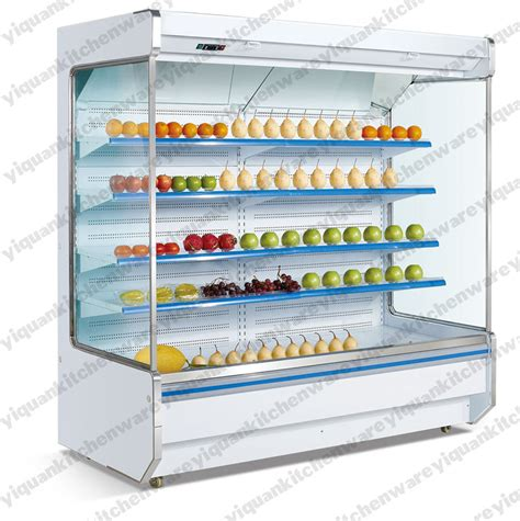 air curtain refrigerator supermarket refrigerator showcase air curtain cabinet for