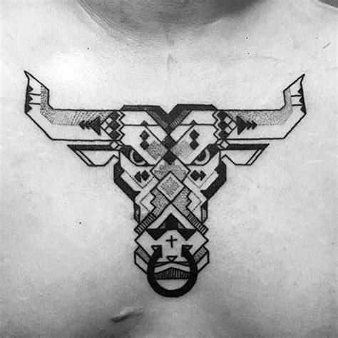 geometric tattoo taurus 75 taurus tattoos for men zodiac ink design ideas