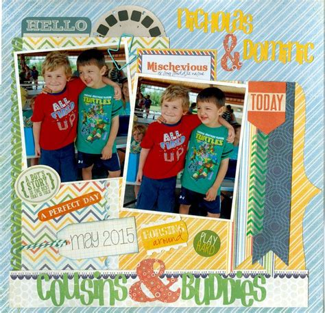 scrapbook layout cousins layout cousins buddies scrapbooking pinterest