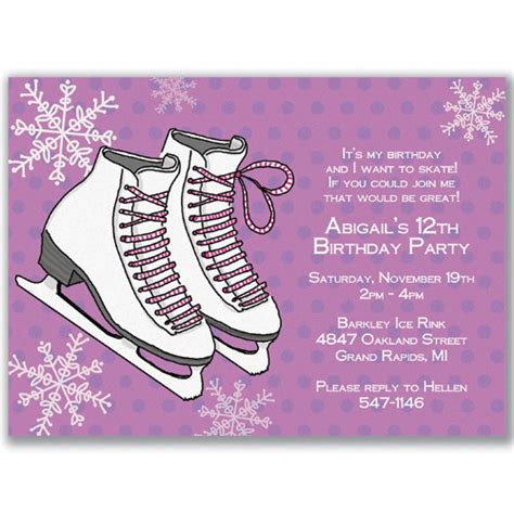 Ice Skating Birthday Invitations Ideas Bagvania Free Printable Invitation Template Skating Invitation Template Free