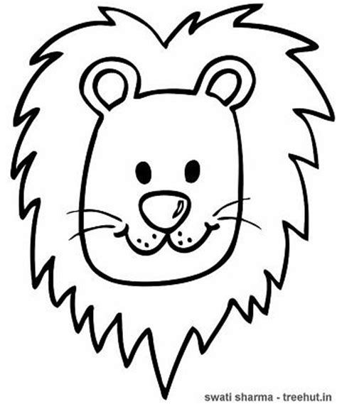 coloring page lion face lion coloring page