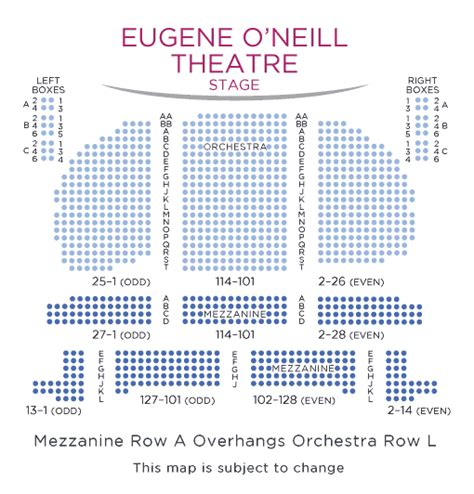 eugene oneill theatre seating views sweeney todd tickets seating chart broadway new york