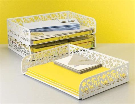 Design Ideas Vinea Letter Tray | design ideas vinea letter tray white home office